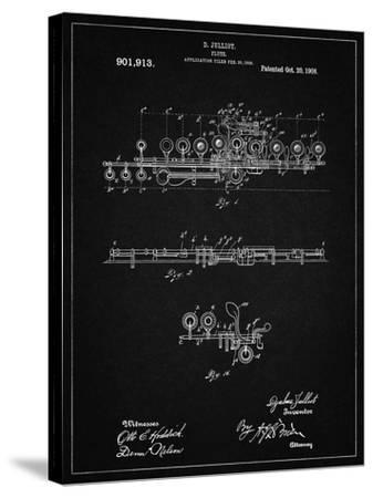 PP820-Vintage Black Flute 1908 Patent Poster-Cole Borders-Stretched Canvas Print