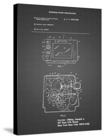 PP791-Black Grid Easy Bake Oven Patent Poster-Cole Borders-Stretched Canvas Print