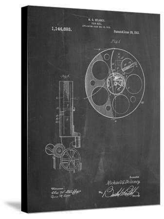 PP807-Chalkboard Film Reel 1915 Patent Poster-Cole Borders-Stretched Canvas Print