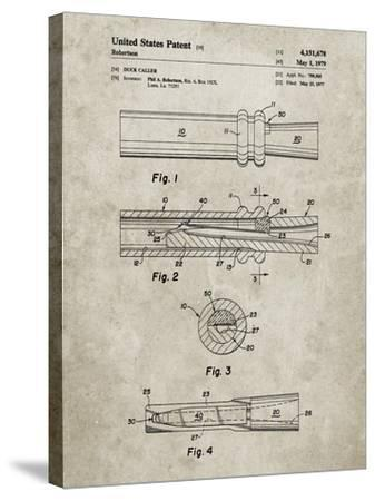 PP789-Sandstone Duck Call Patent Poster-Cole Borders-Stretched Canvas Print