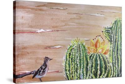 Roadrunner-Lauren Moss-Stretched Canvas Print