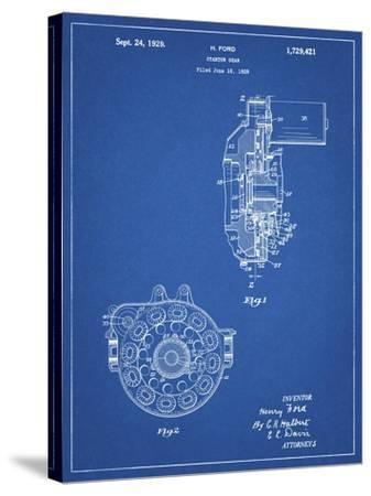 PP833-Blueprint Ford Car Starter Gear 1928 Patent Poster-Cole Borders-Stretched Canvas Print