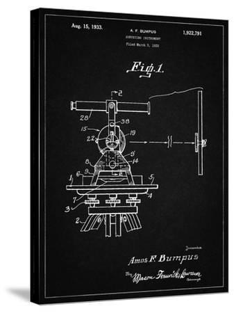 PP865-Vintage Black Gurly Transit Patent Poster-Cole Borders-Stretched Canvas Print