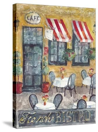 French Bistro-Marietta Cohen Art and Design-Stretched Canvas Print