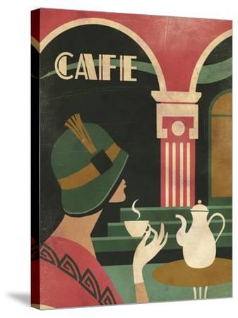 Art Deco Cafe-Martin Wickstrom-Stretched Canvas Print
