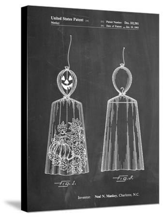 PP895-Chalkboard Jack O'Lantern Patent Poster-Cole Borders-Stretched Canvas Print