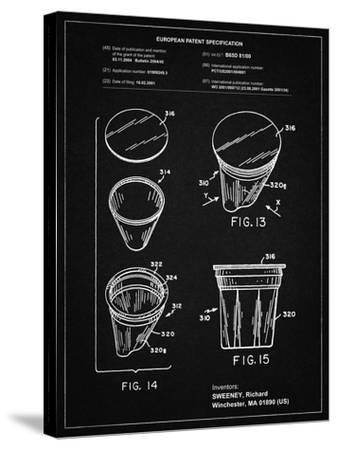 PP904-Vintage Black Keurig Cartridge Coffee Patent Poster-Cole Borders-Stretched Canvas Print