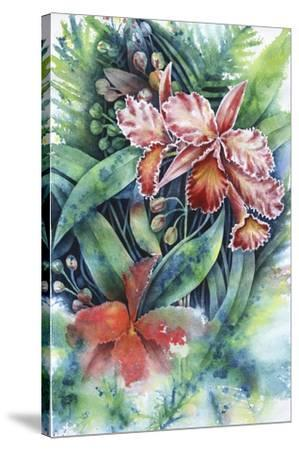 Red Orchid-Michelle Faber-Stretched Canvas Print