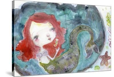 Serenity Mermaid-Mindy Lacefield-Stretched Canvas Print