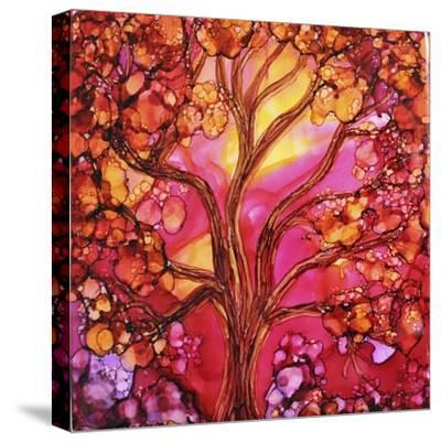 Sunset Tree-Michelle McCullough-Stretched Canvas Print