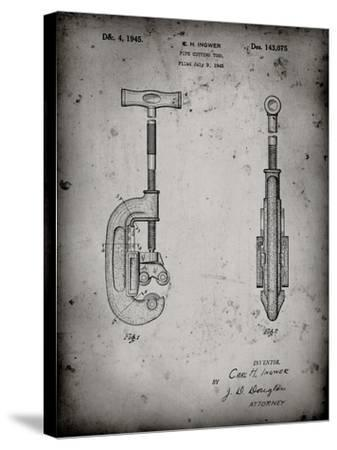 PP986-Faded Grey Pipe Cutting Tool Patent Poster-Cole Borders-Stretched Canvas Print