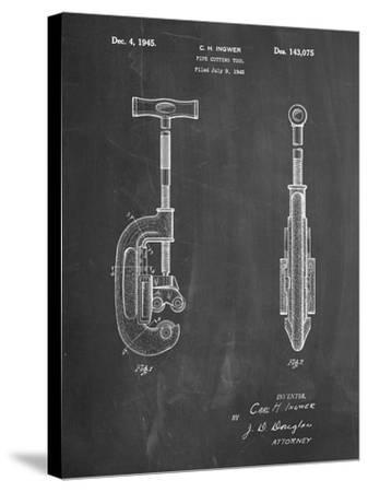PP986-Chalkboard Pipe Cutting Tool Patent Poster-Cole Borders-Stretched Canvas Print