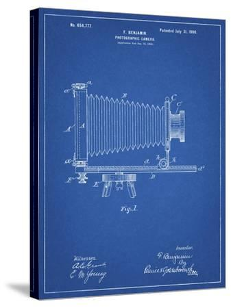 PP985-Blueprint Photographic Camera Patent Poster-Cole Borders-Stretched Canvas Print