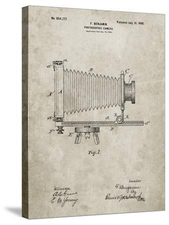PP985-Sandstone Photographic Camera Patent Poster-Cole Borders-Stretched Canvas Print