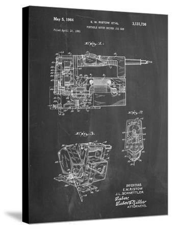 PP957-Chalkboard Milwaukee Portable Jig Saw Patent Poster-Cole Borders-Stretched Canvas Print