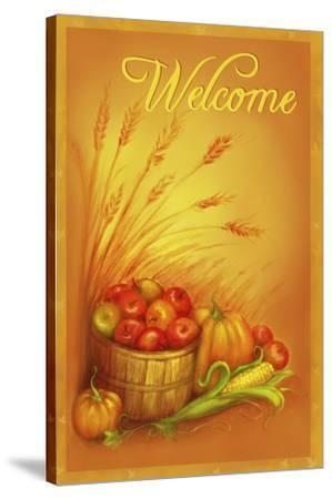 Apple Welcome-Patricia Dymer-Stretched Canvas Print