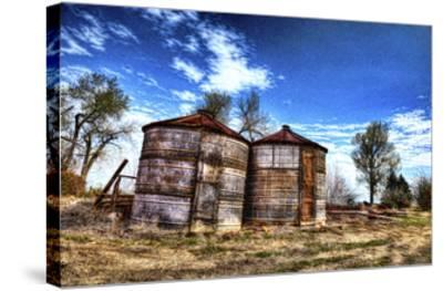 Grain Storage Bins-Randy Waln-Stretched Canvas Print