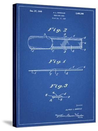 PP1010-Blueprint Reed Patent Poster-Cole Borders-Stretched Canvas Print