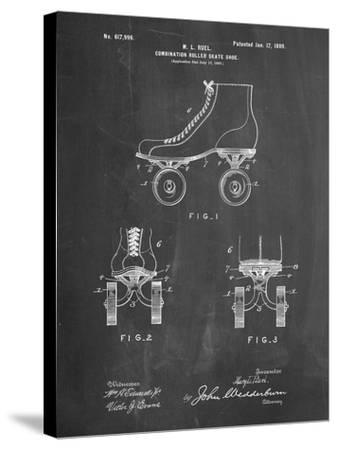 PP1019-Chalkboard Roller Skate 1899 Patent Poster-Cole Borders-Stretched Canvas Print