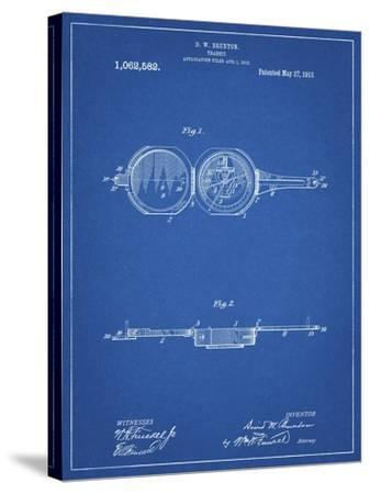 PP992-Blueprint Pocket Transit Compass 1919 Patent Poster-Cole Borders-Stretched Canvas Print