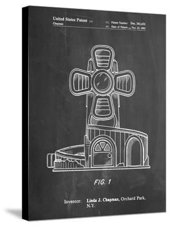PP1108-Chalkboard Toy Windmill Poster-Cole Borders-Stretched Canvas Print