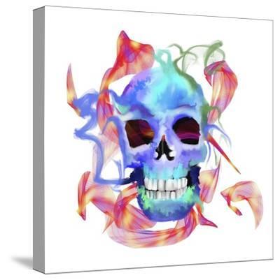 Skull-Stephanie Analah-Stretched Canvas Print
