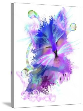 Kitty 5-Stephanie Analah-Stretched Canvas Print