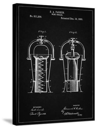 PP1138-Vintage Black Wine Cooler 1893 Patent Poster-Cole Borders-Stretched Canvas Print