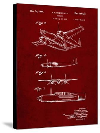 PP69-Burgundy Lockheed XP-58 Chain Lightning Poster-Cole Borders-Stretched Canvas Print