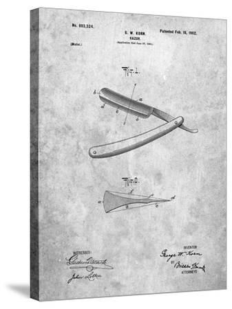 PP1178-Slate Straight Razor Patent Poster-Cole Borders-Stretched Canvas Print
