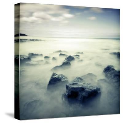 Blue Seascape 02-Tom Quartermaine-Stretched Canvas Print