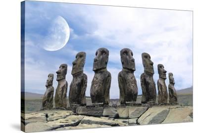 Moai-Ata Alishahi-Stretched Canvas Print