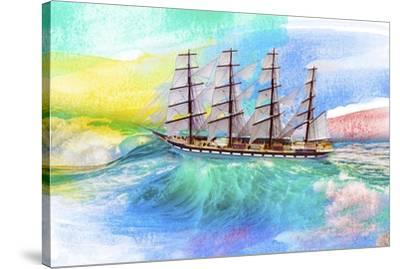 Sailing Away 4-Ata Alishahi-Stretched Canvas Print