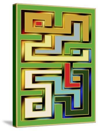 Geo 9-Art Deco Designs-Stretched Canvas Print