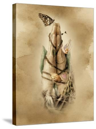 Prayer Hands-Art and a Little Magic-Stretched Canvas Print