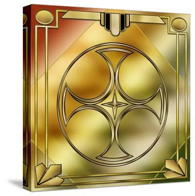 Deco Brass 3 Frame 1-Art Deco Designs-Stretched Canvas Print
