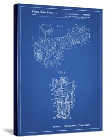 PP179- Blueprint Optimus Prime Transformer Poster-Cole Borders-Stretched Canvas Print