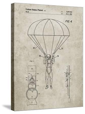 PP187- Sandstone Parachute 1982 Patent Poster-Cole Borders-Stretched Canvas Print