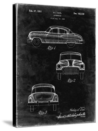 PP134- Black Grunge Buick Super 1949 Car Patent Poster-Cole Borders-Stretched Canvas Print