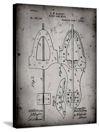 PP158- Faded Grey 1898 Hockey Skate Patent Poster-Cole Borders-Stretched Canvas Print