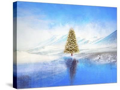 Winter And Christmas Tree-Ata Alishahi-Stretched Canvas Print