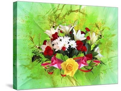 Flower Design Oc6-Ata Alishahi-Stretched Canvas Print