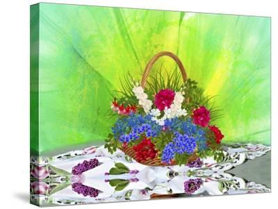 Flower Design Oc1-Ata Alishahi-Stretched Canvas Print