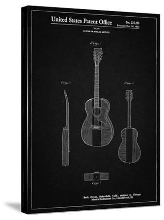 PP306-Vintage Black Buck Owens American Guitar Patent Poster-Cole Borders-Stretched Canvas Print