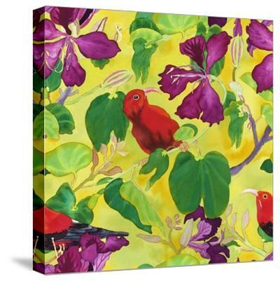 Liwis in Orchid Tree - Repeat Pattern-Carissa Luminess-Stretched Canvas Print