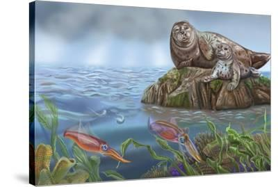 Pitter And Patter Spread 14-Cathy Morrison Illustrates-Stretched Canvas Print