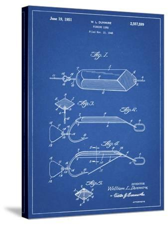PP420-Blueprint Spoon Fishing Lure Poster-Cole Borders-Stretched Canvas Print