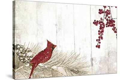 Cardinal Christmas V-Color Bakery-Stretched Canvas Print