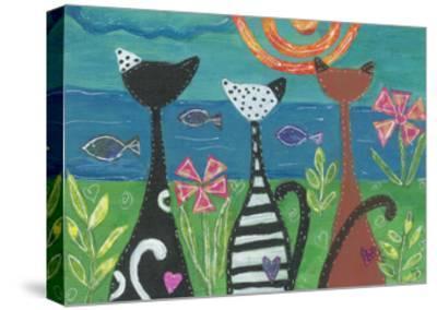 EC-102-Cats - Serenity-Elizabeth Claire-Stretched Canvas Print