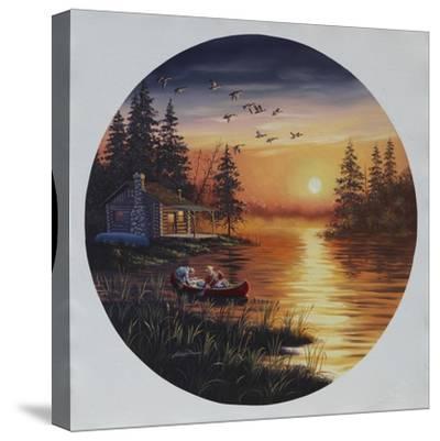 D45 Fishermen Canoe-D. Rusty Rust-Stretched Canvas Print